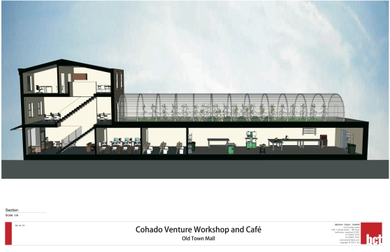 Cohado Cafe Elevation with Sky
